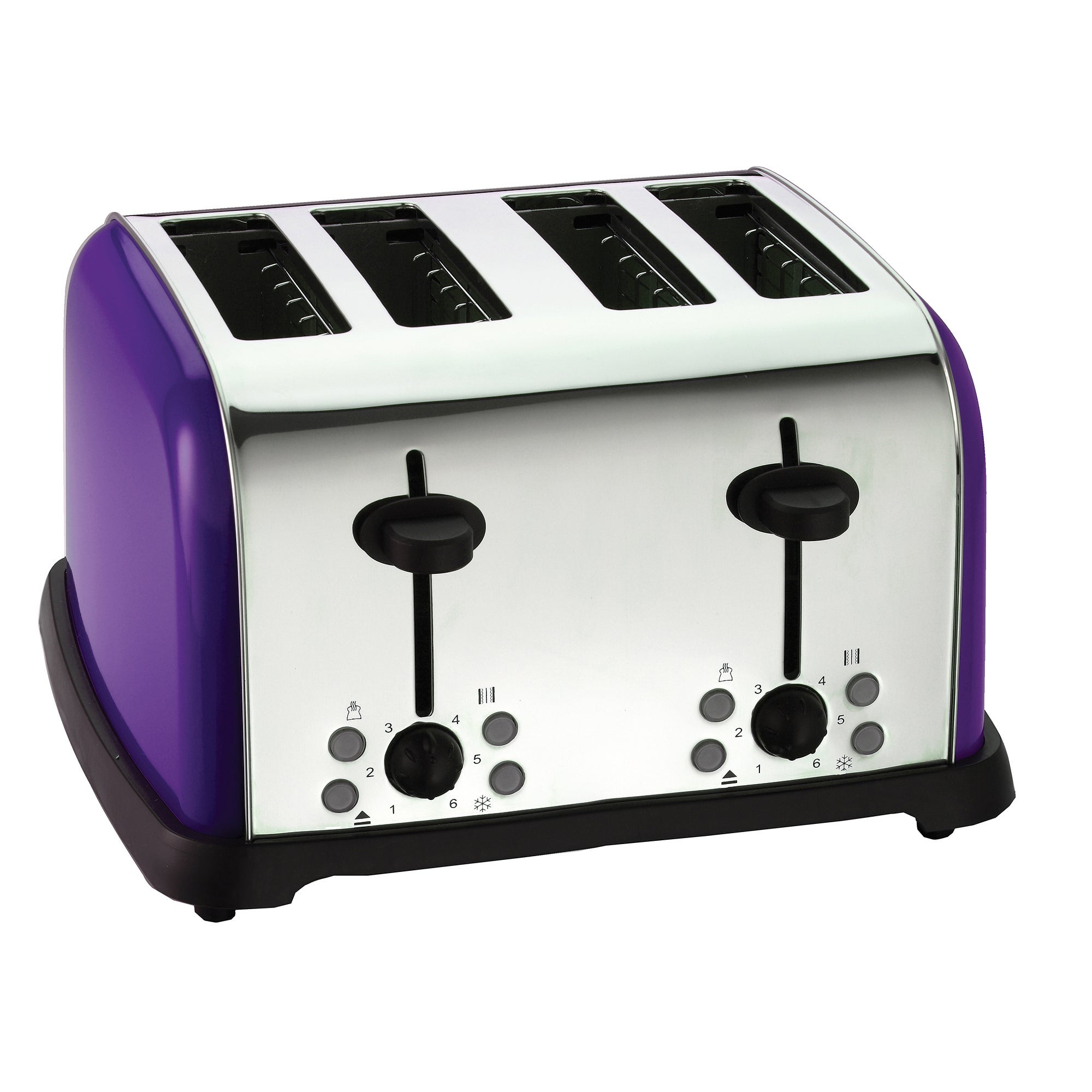 Purple Spectrum Collection 4 Slice Toaster