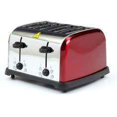 Red Spectrum Collection 4 Slice Toaster
