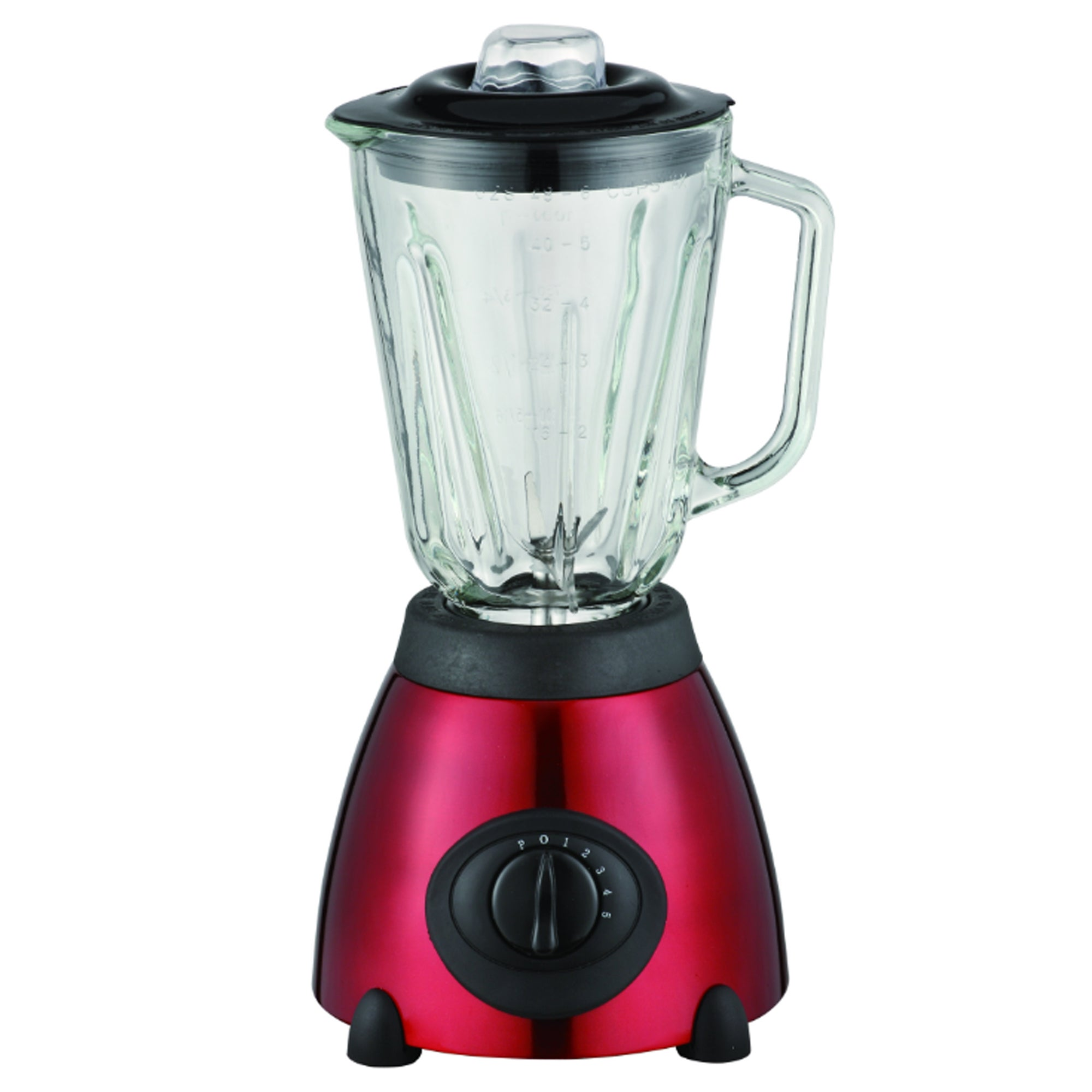 Red Spectrum Collection Glass Jug Blender
