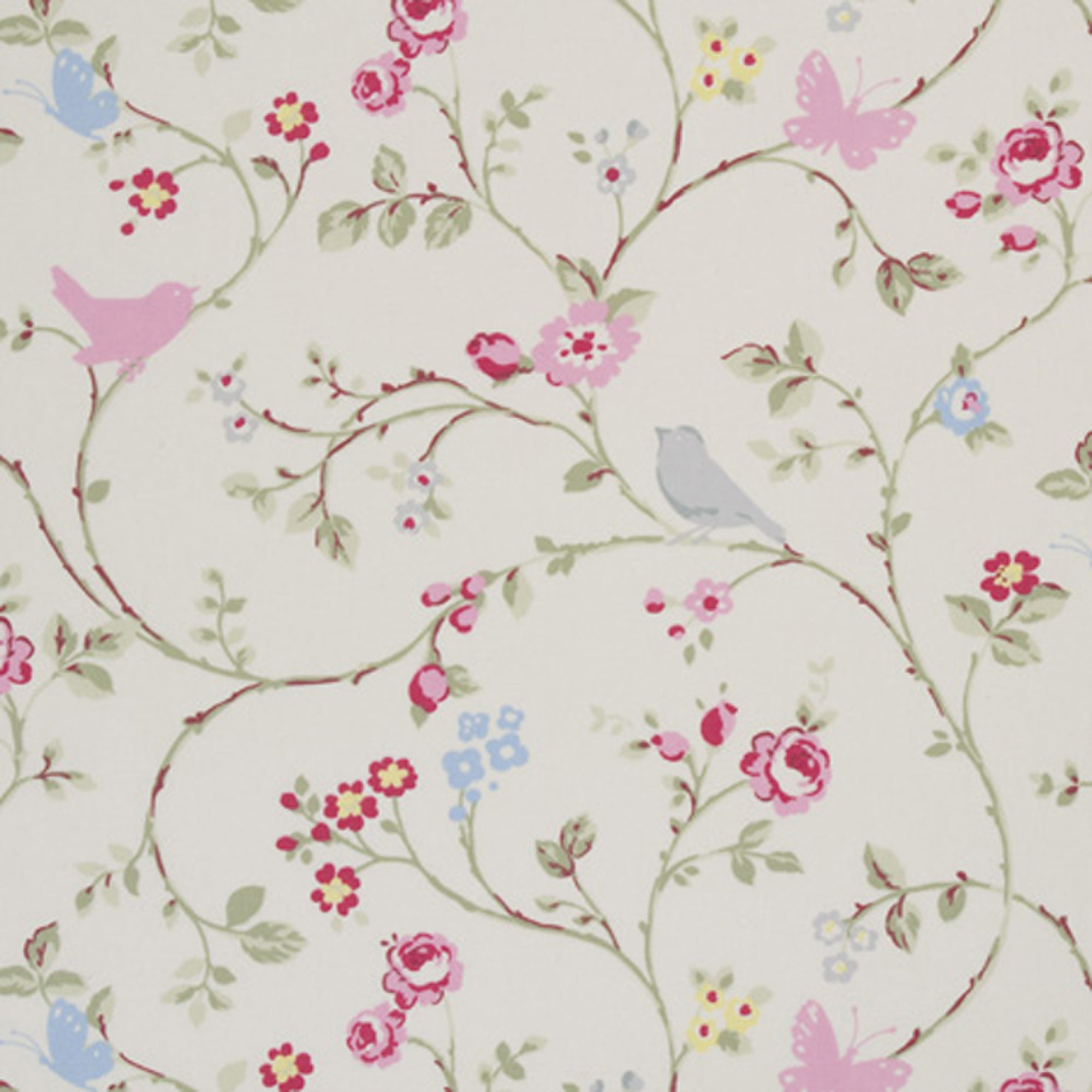 Bird Trail Print Fabric