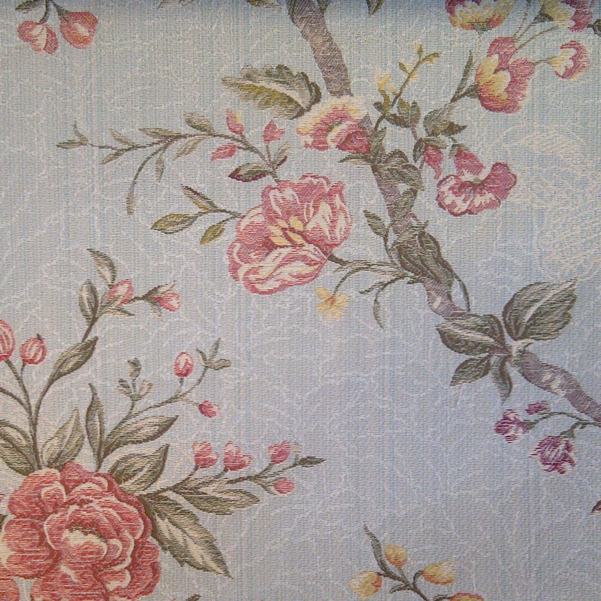 Aqua Hannah Jacquard Fabric