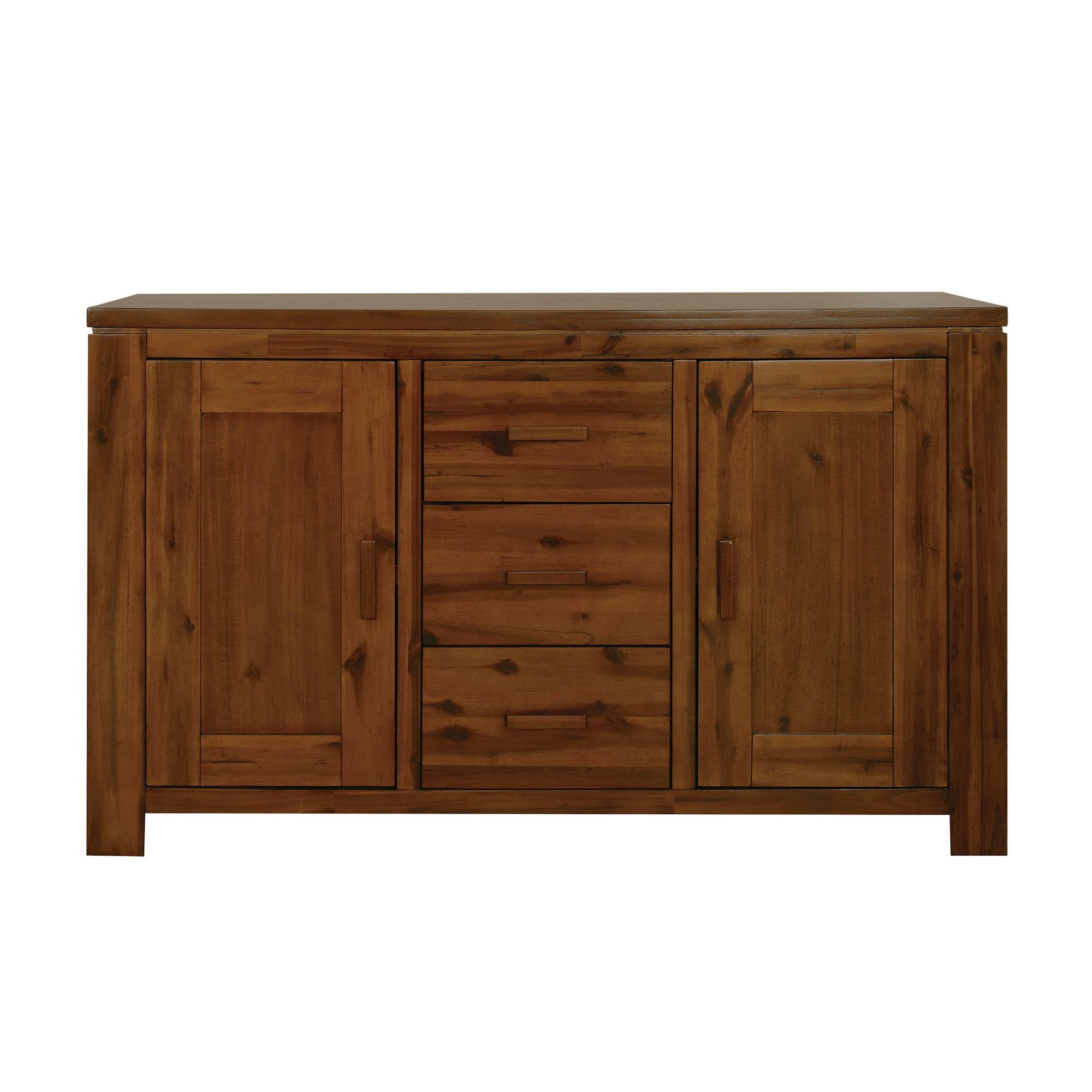 seville acacia dark wood sideboard dunelm
