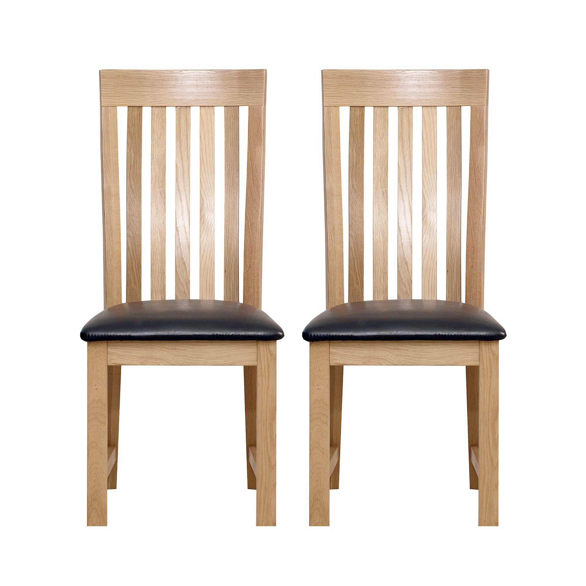 Seville Oak Pair of Dining Chairs