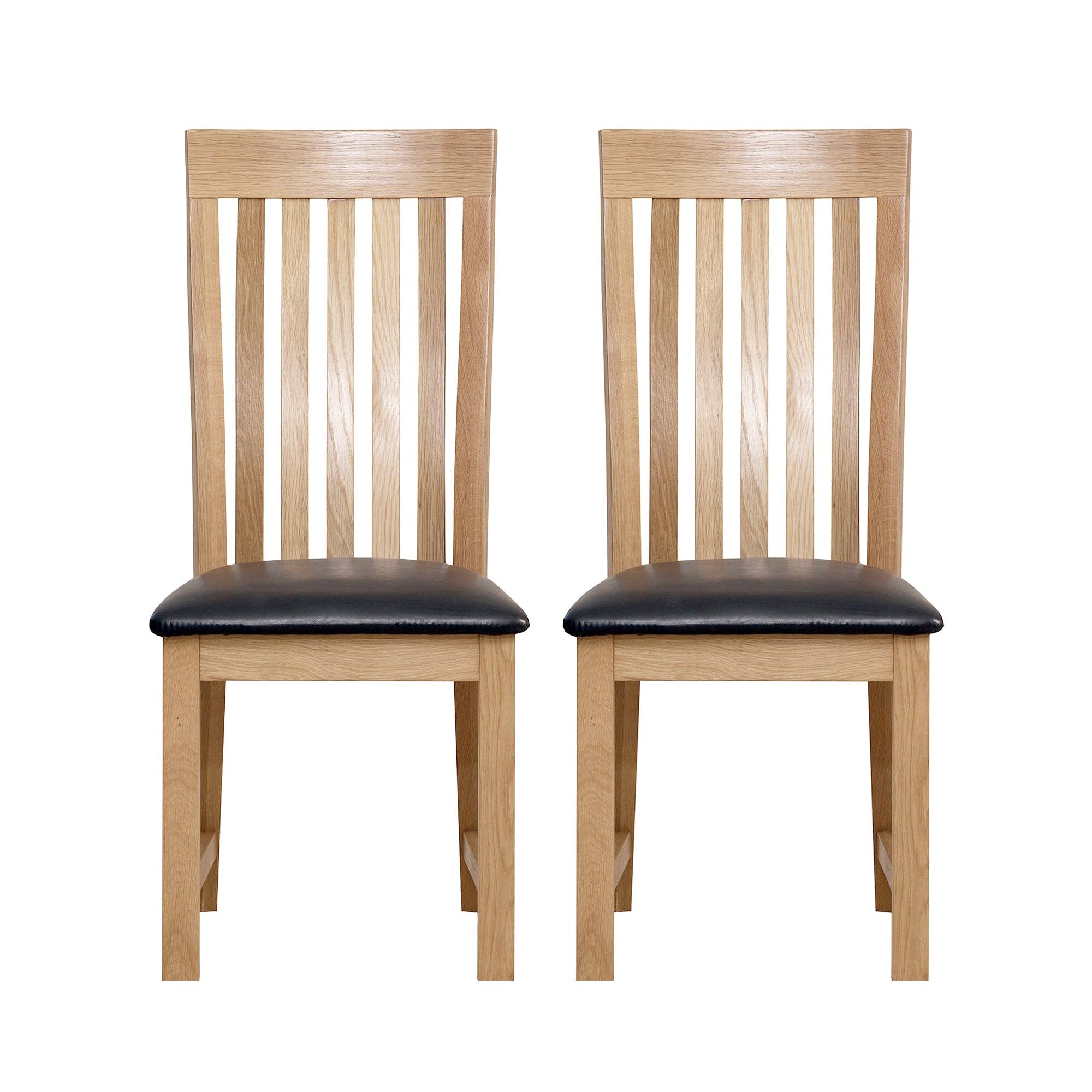 seville oak pair of dining chairs dunelm. Black Bedroom Furniture Sets. Home Design Ideas