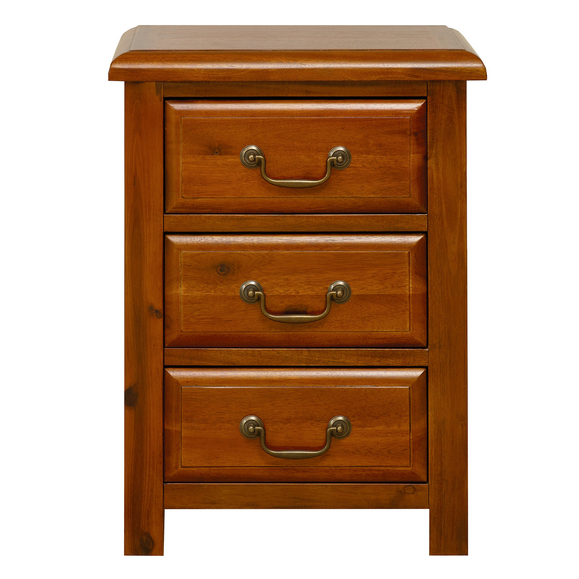 Winchester Acacia Dark Wood Bedside Chest