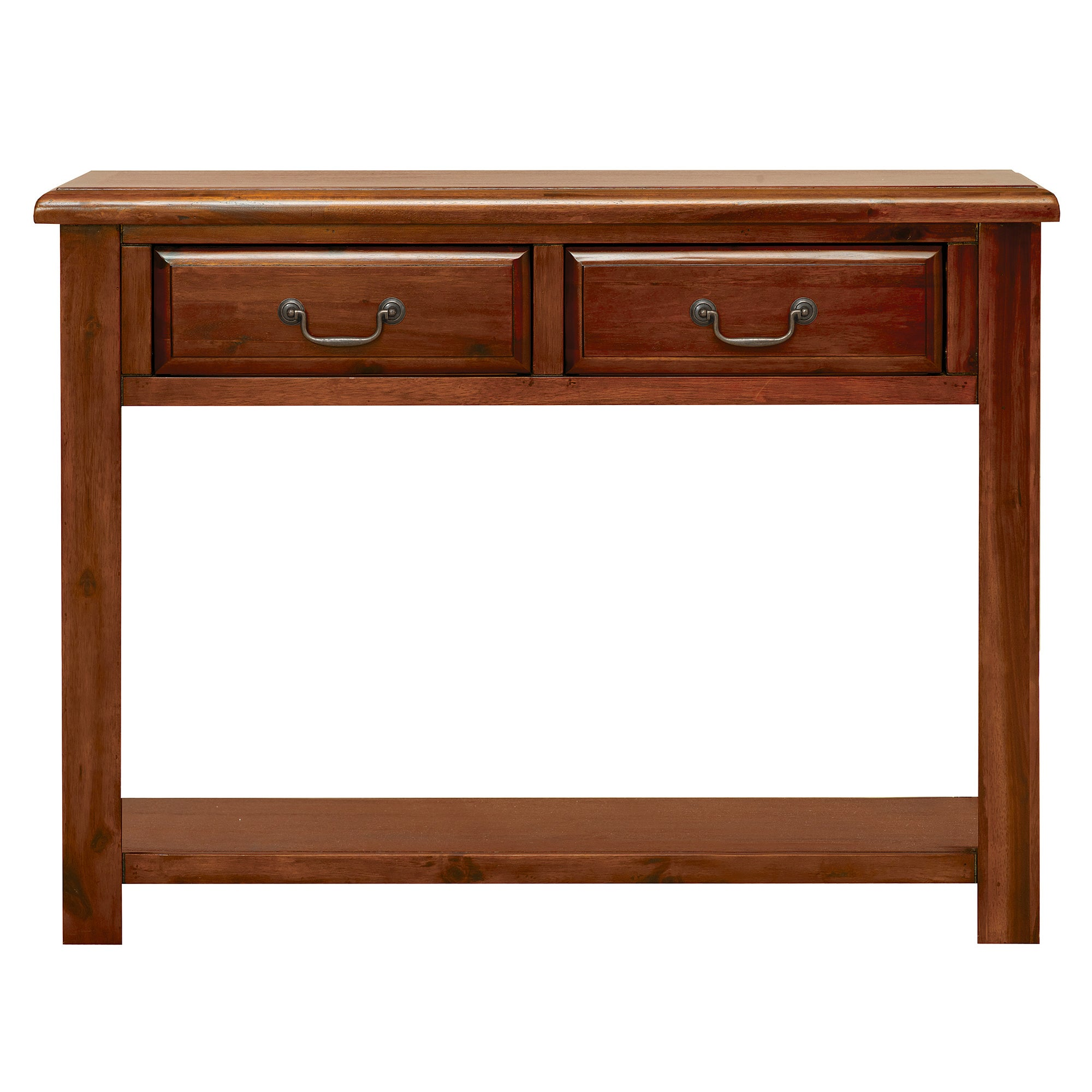 winchester acacia dark wood console table dunelm