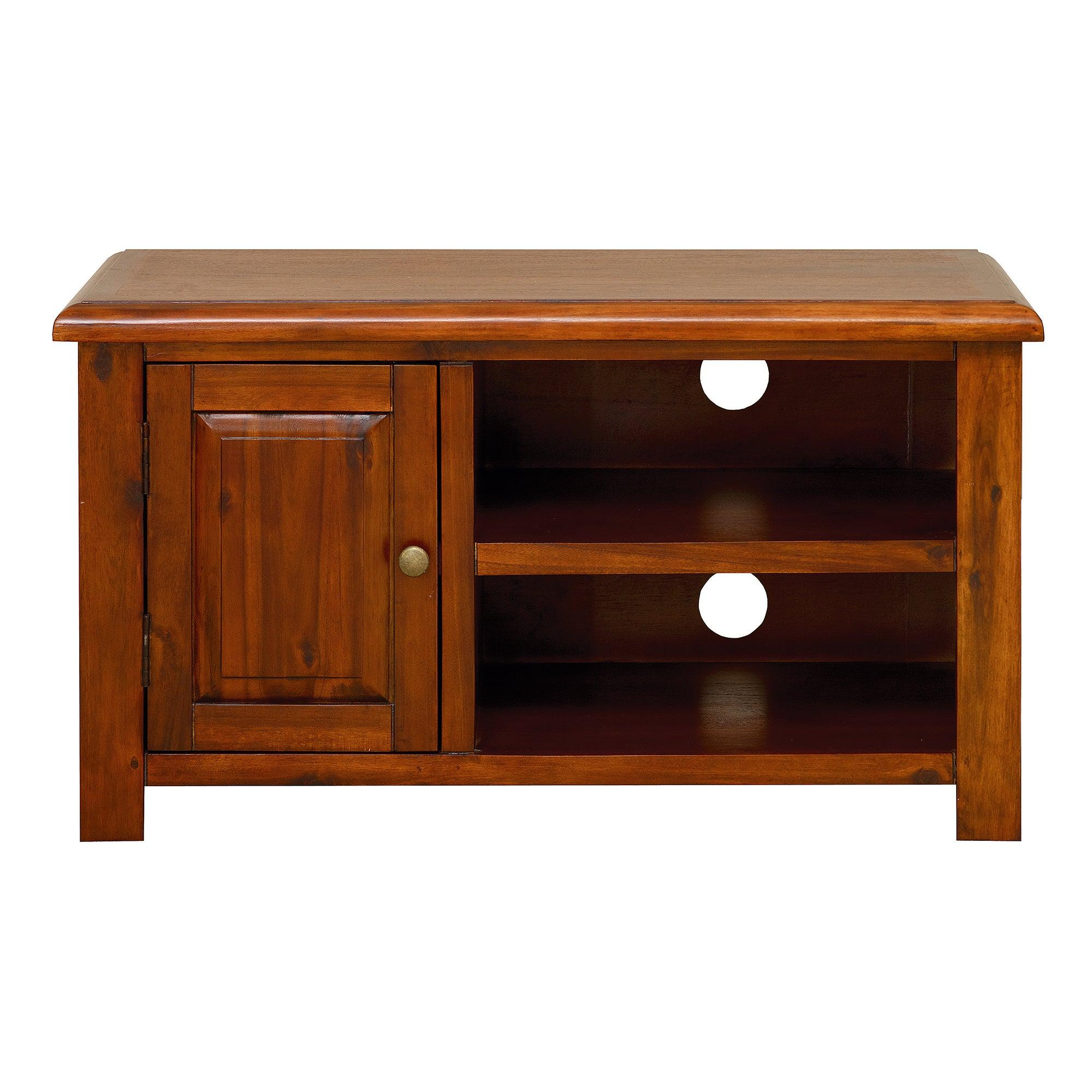 winchester acacia dark wood tv unit dunelm. Black Bedroom Furniture Sets. Home Design Ideas