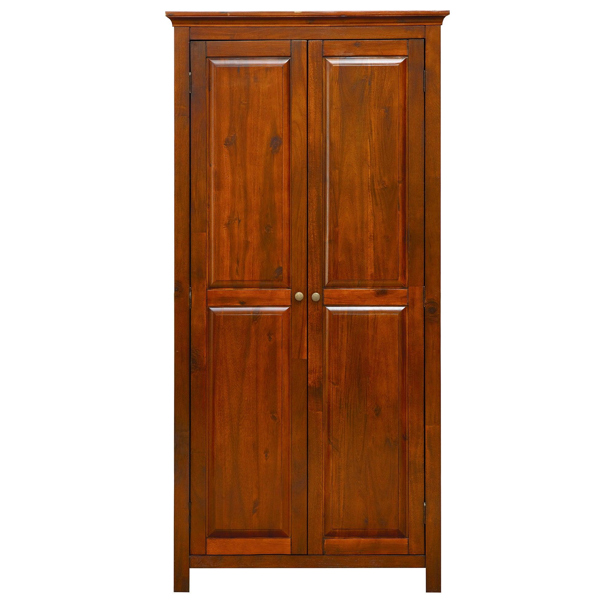 Winchester Acacia Dark Wood Wardrobe