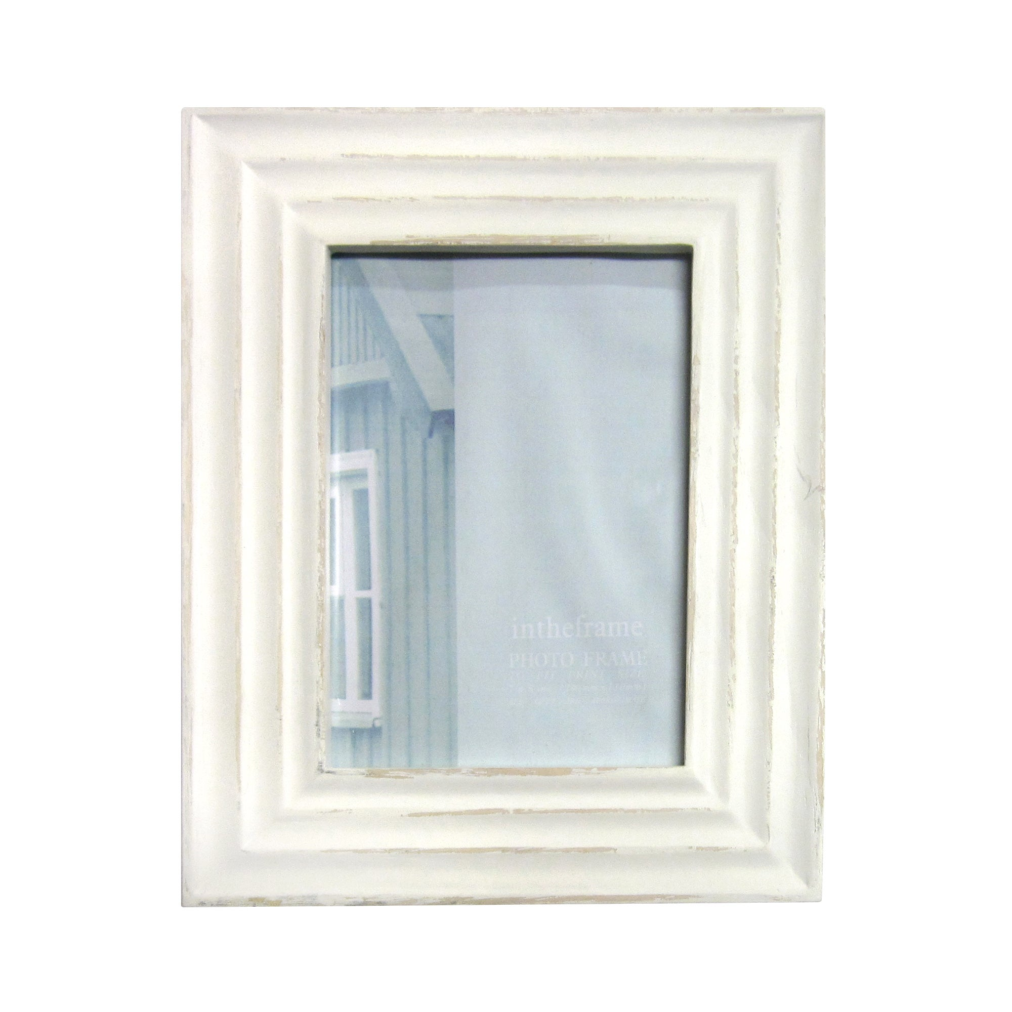 Distressed Cream Photo Frame