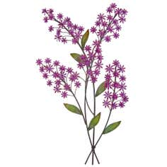 Purple Buddleia 3D Wall Art