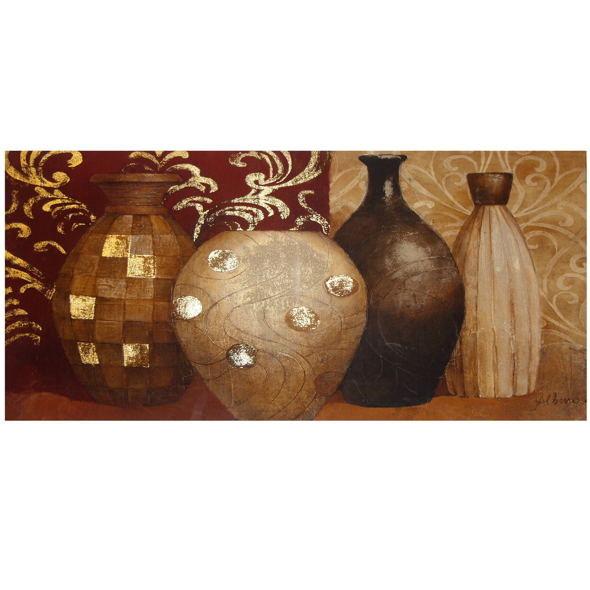 Ethnic Vases Canvas