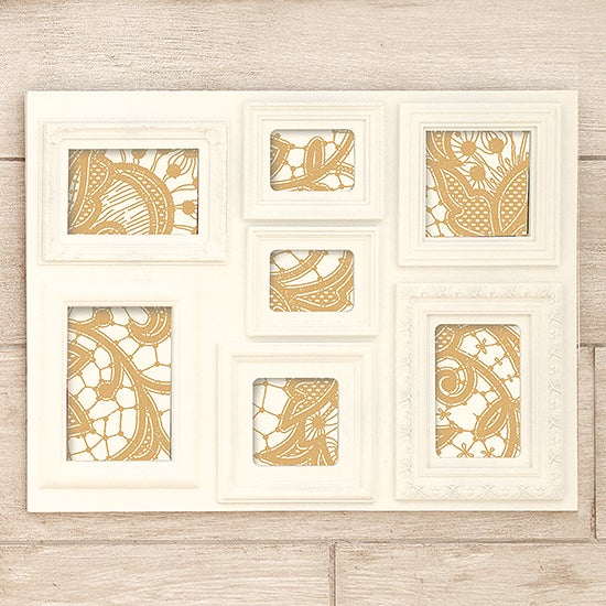 Cream 7 Aperture Photo Frame