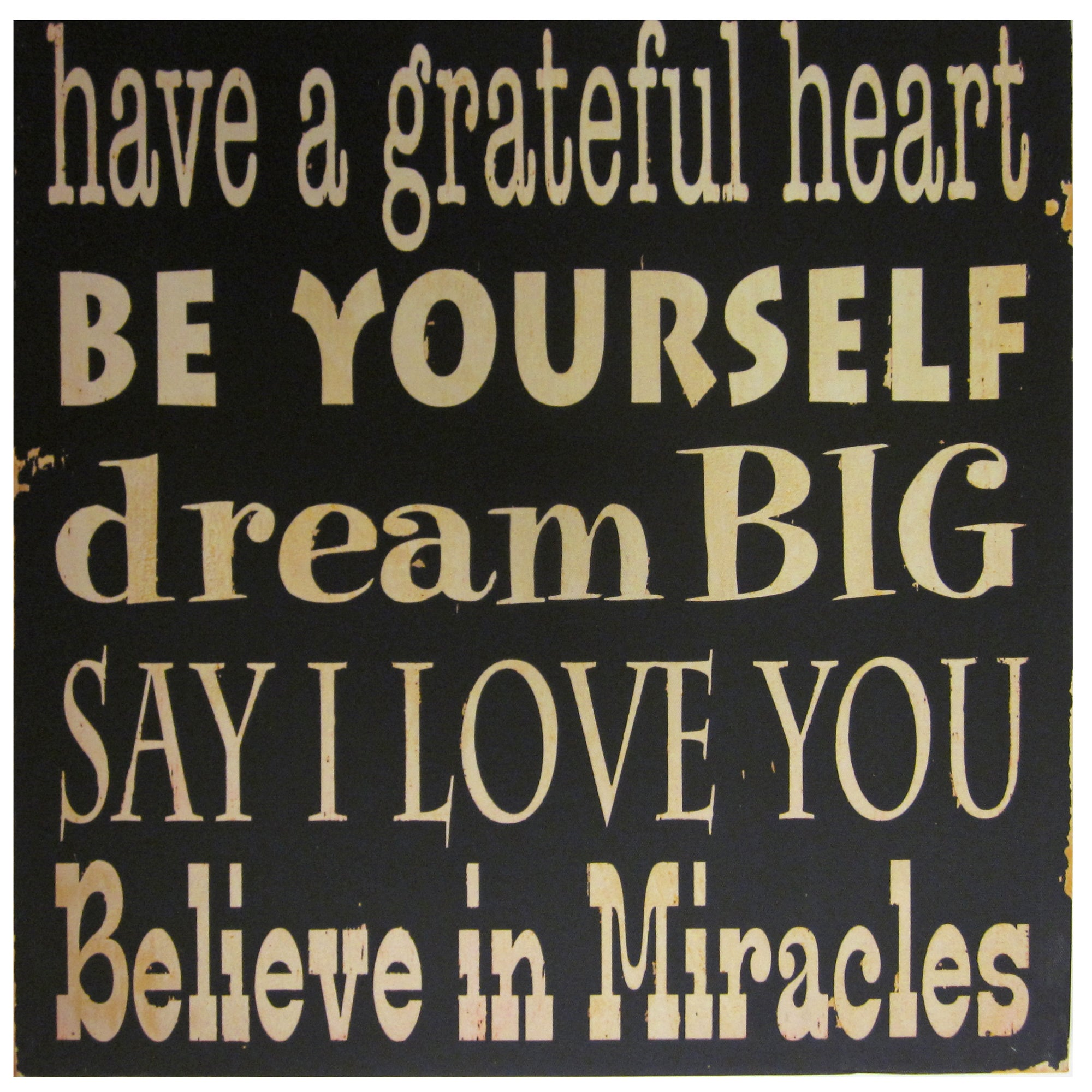 Dream Big Printed Canvas