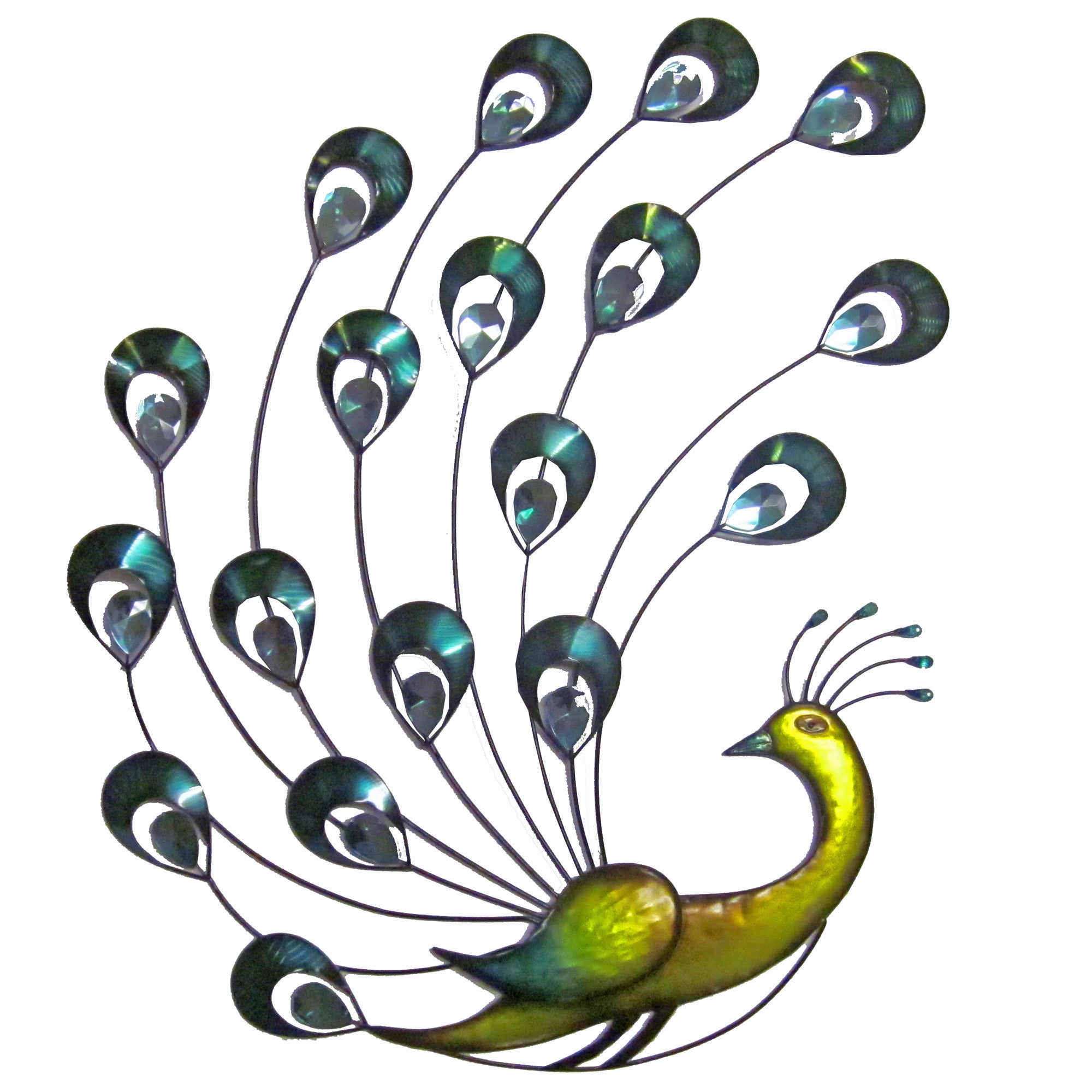 Jewel Peacock Metal Wall Art