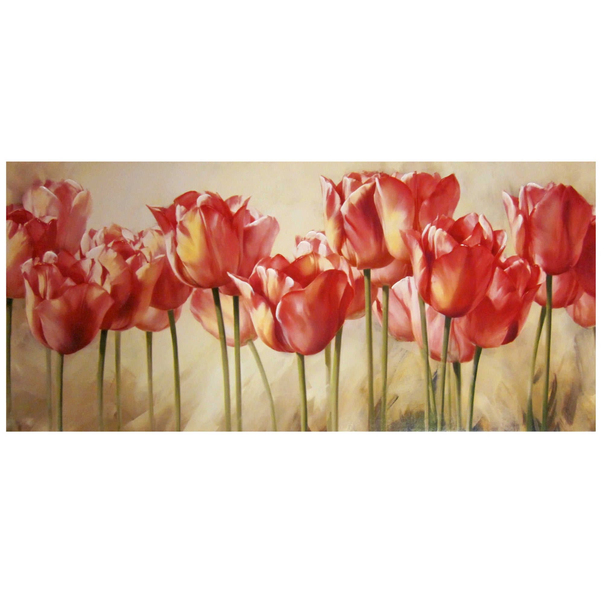 Tulips Hand Painted Canvas