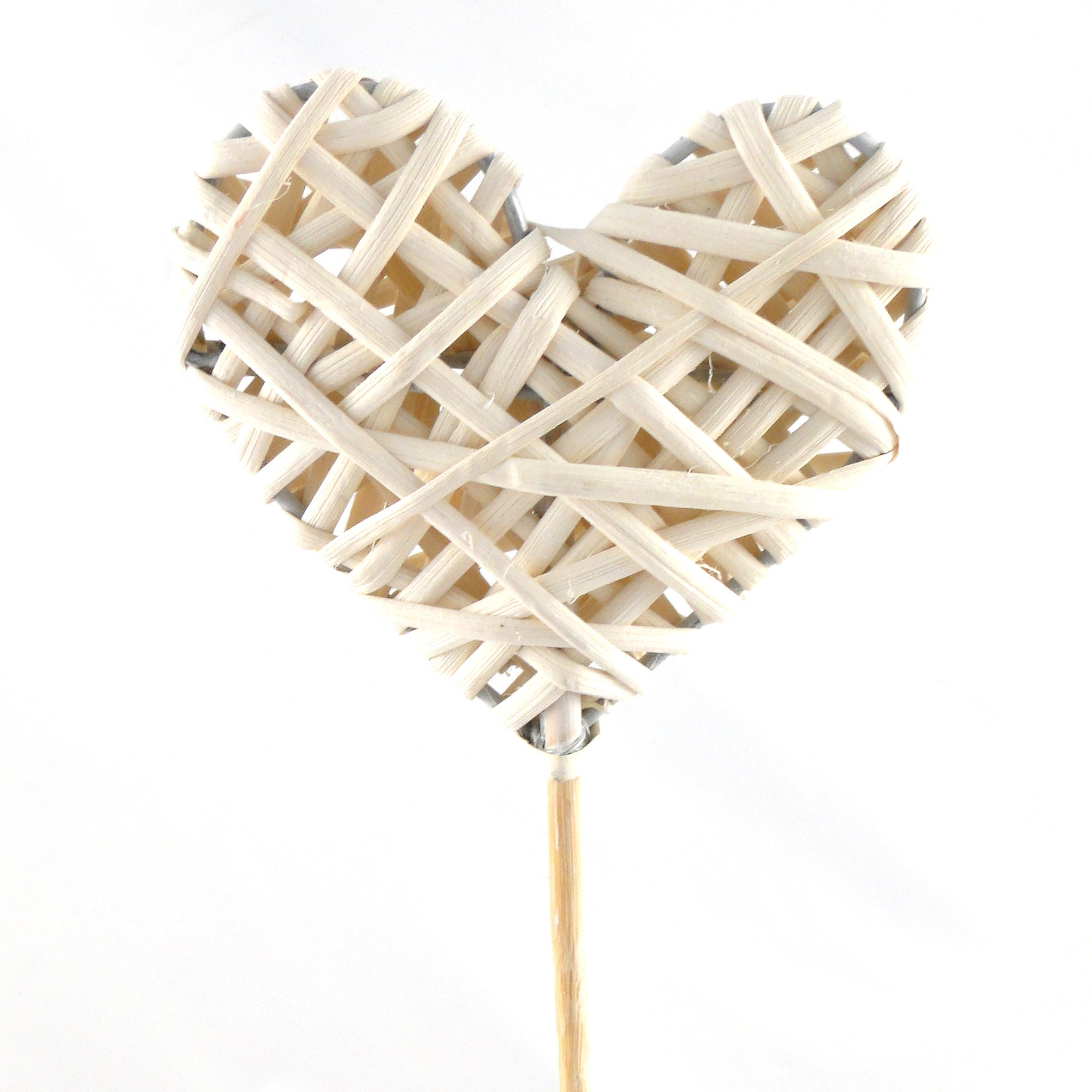 Natural Willow Heart On A Stick