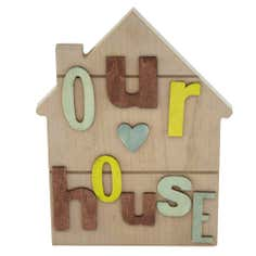 Living in Colour Collection 'Our House' Hanging Plaque
