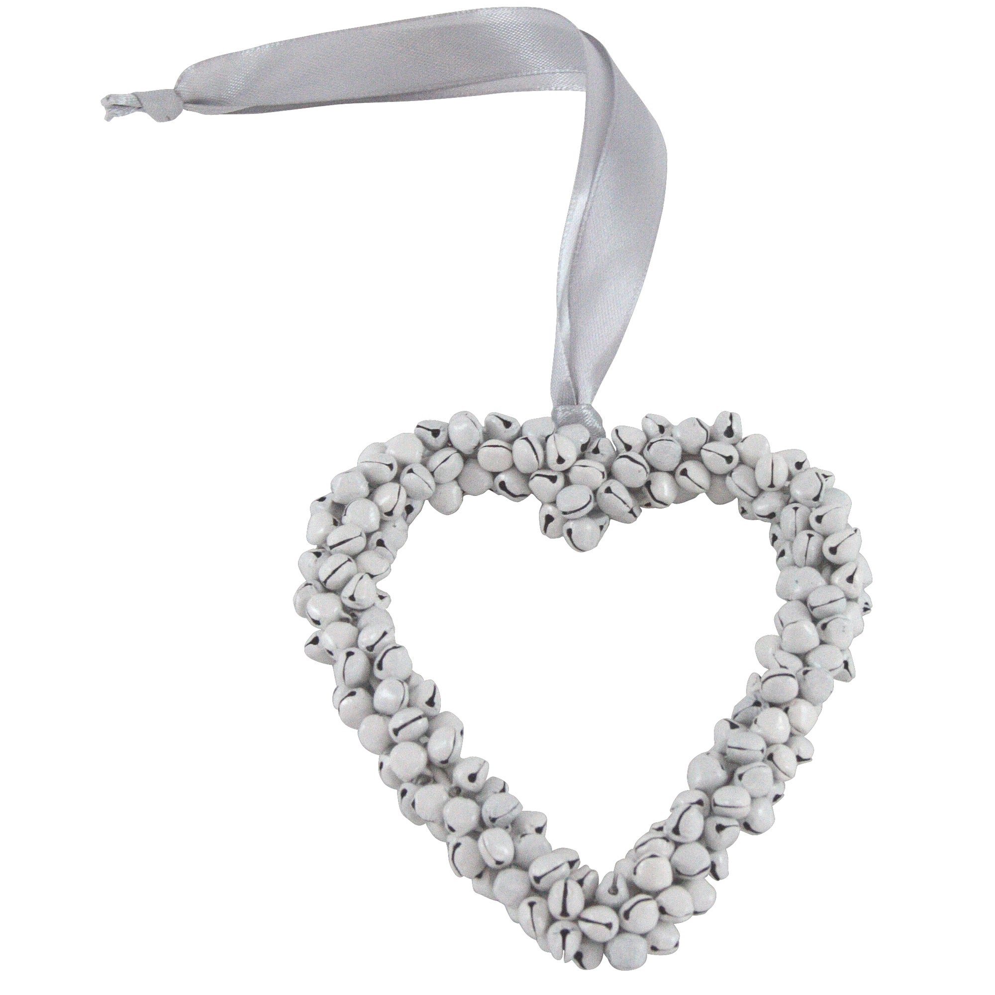 Plum Pudding Collection Hanging Heart Decoration with Bells