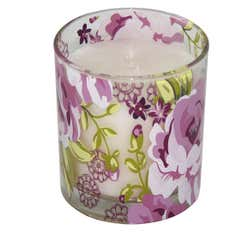 Plum Pudding Collection Wax Filled Glass Votive Candle