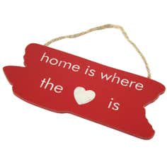 Ruby Collection 'Home Is Where The Heart Is' Hanging Sign