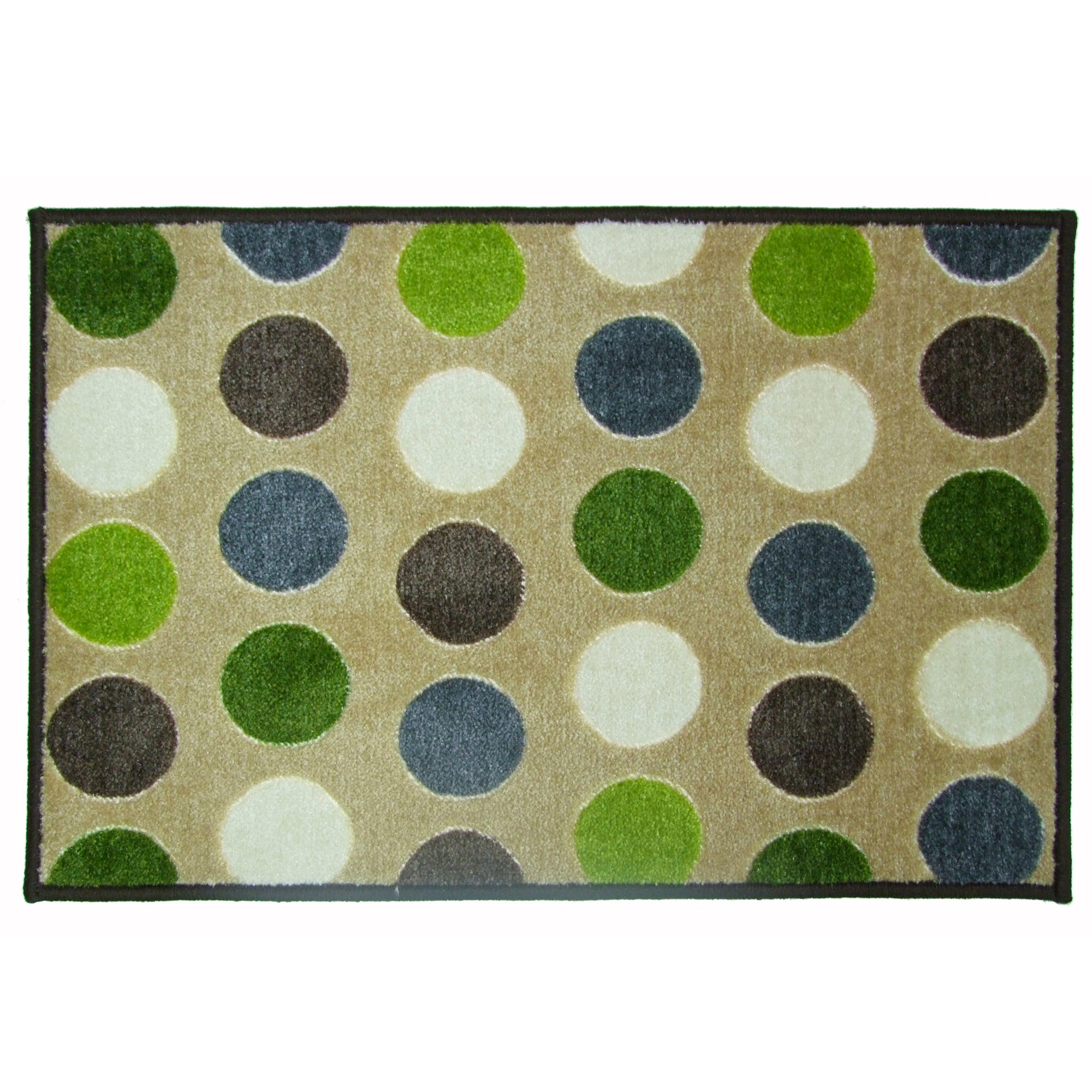 Polka Dot Super Soft Washable Doormat