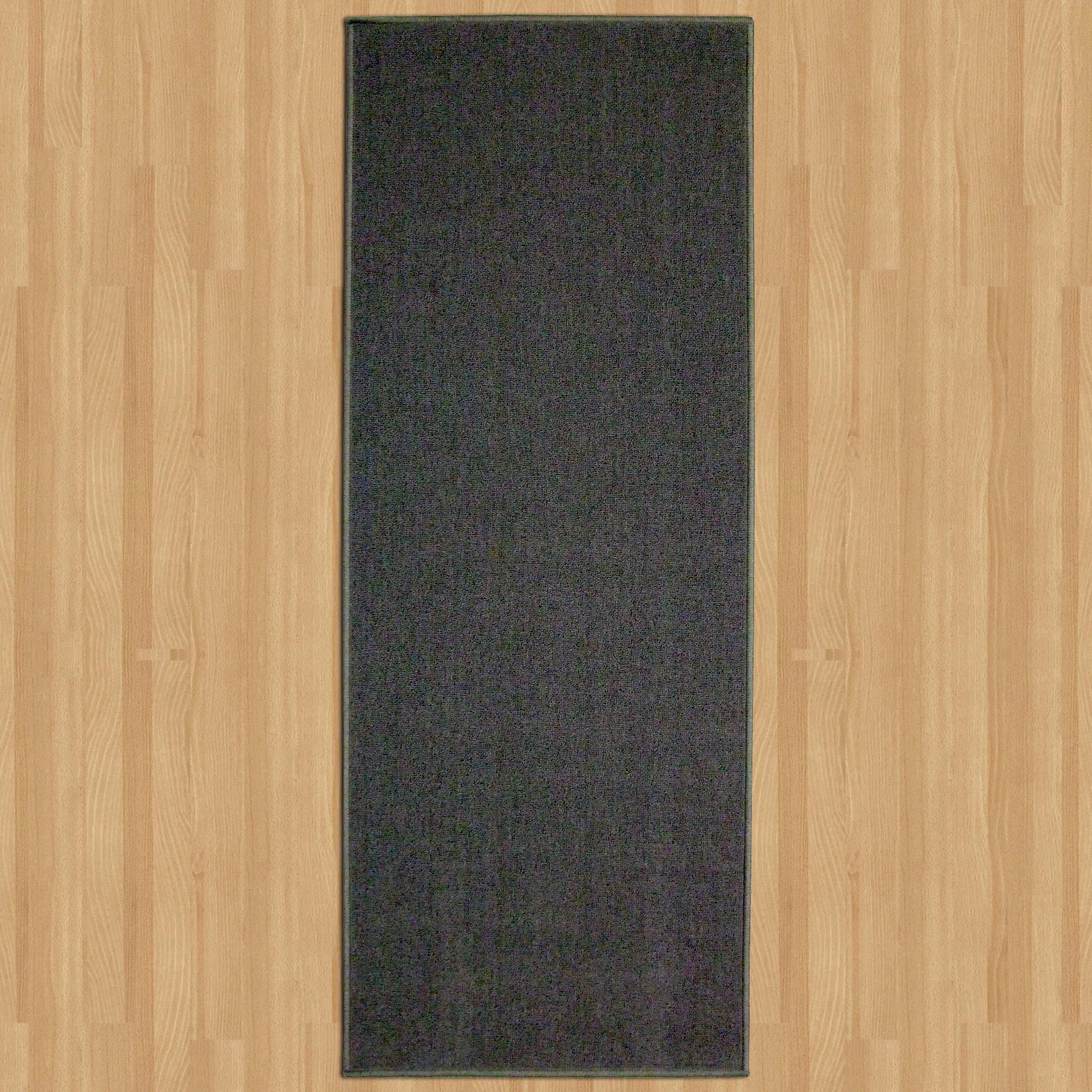 Plain Grey Washable Runner