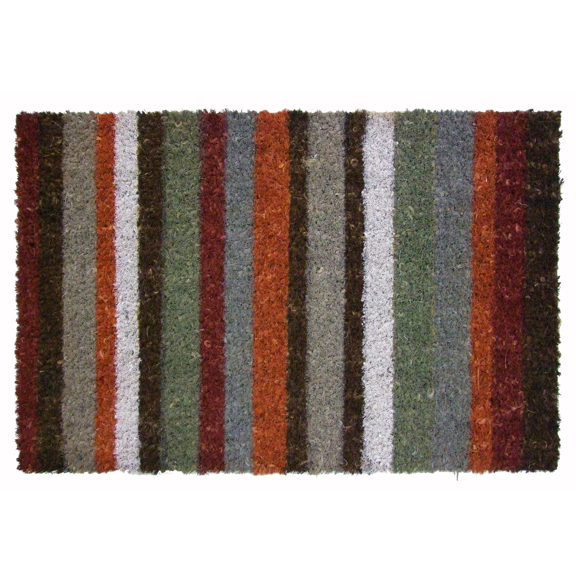 Colourful Stripe Coir Doormat