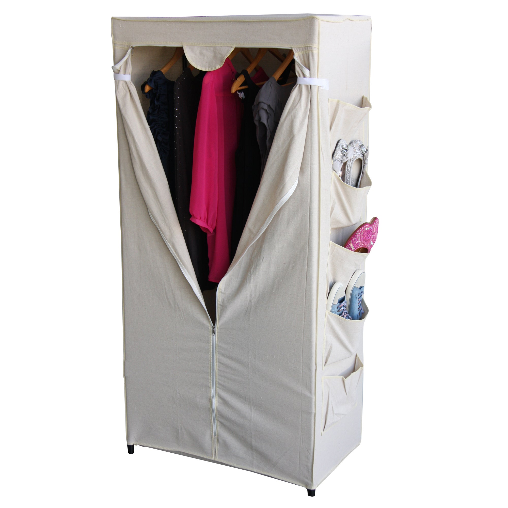 100% Cotton Collection Wardrobe with Pockets