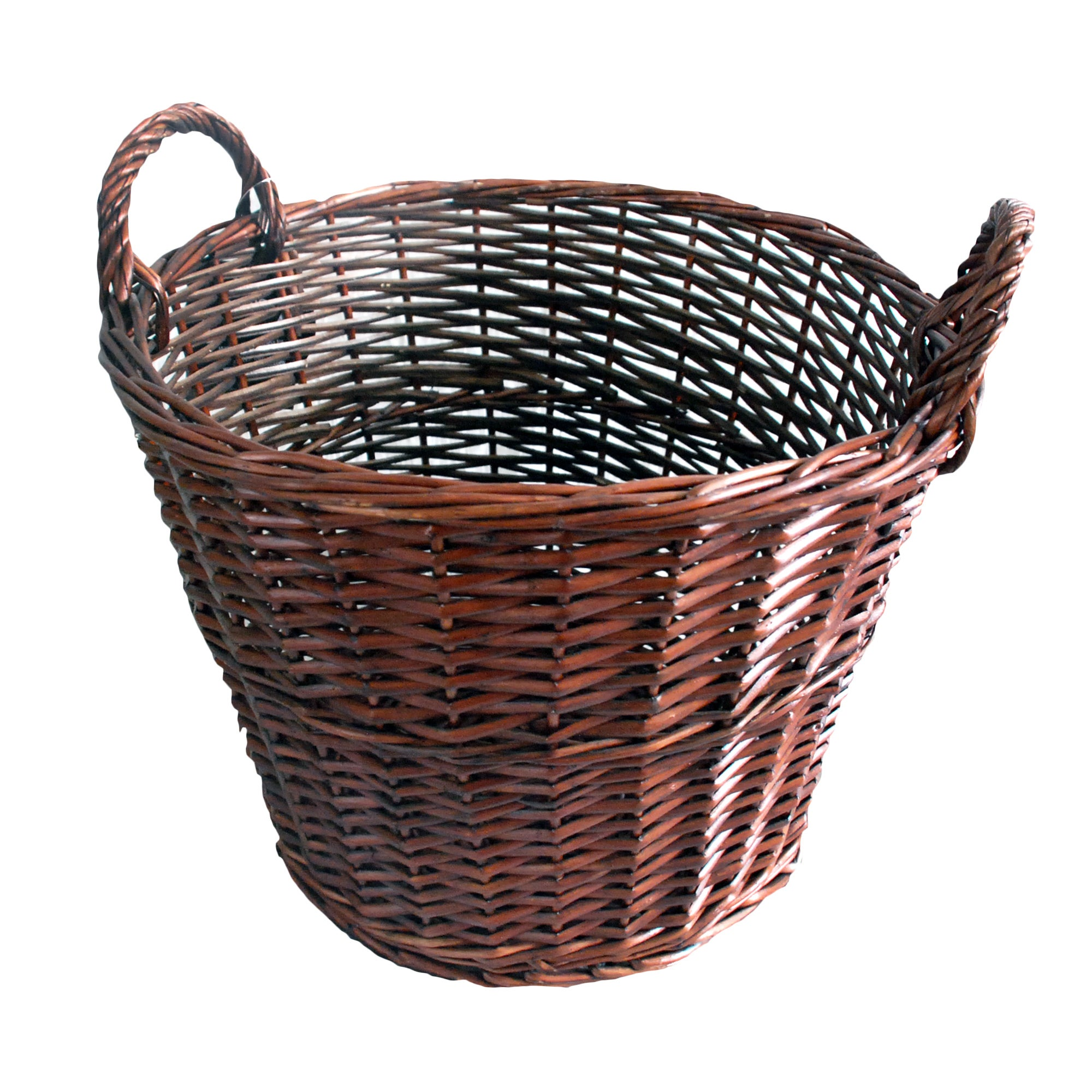 Chocolate Large Round Basket