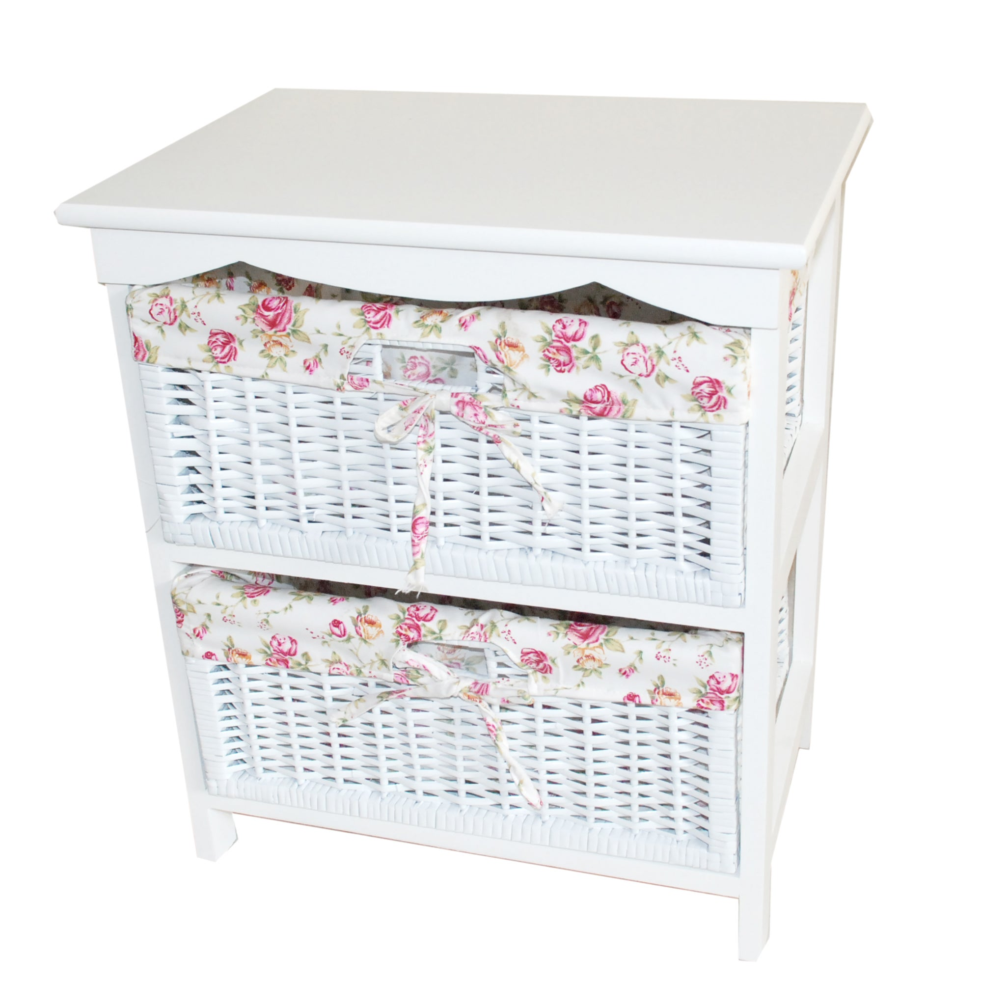 White Willow Collection 2 Drawer Tower