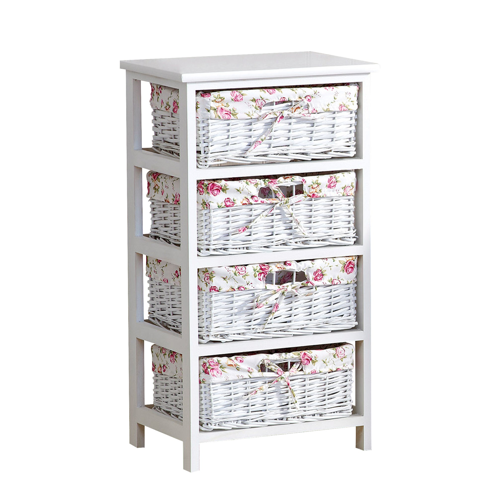 White Willow 4 Drawer Tower