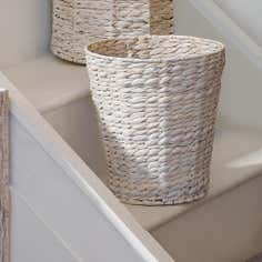 White Water Hyacinth Collection Waste Paper Bin