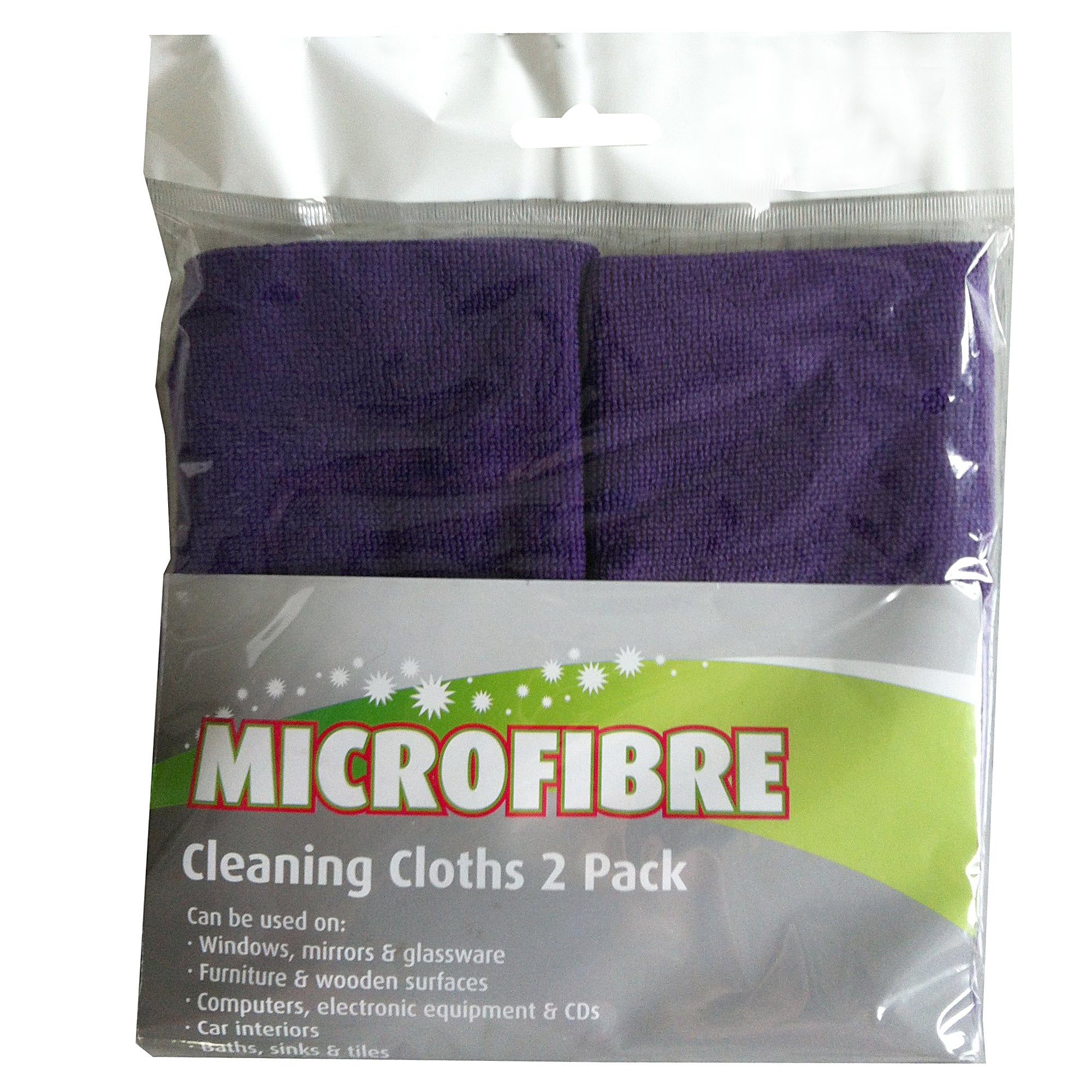 Pack of 2 Microfibre Cloths