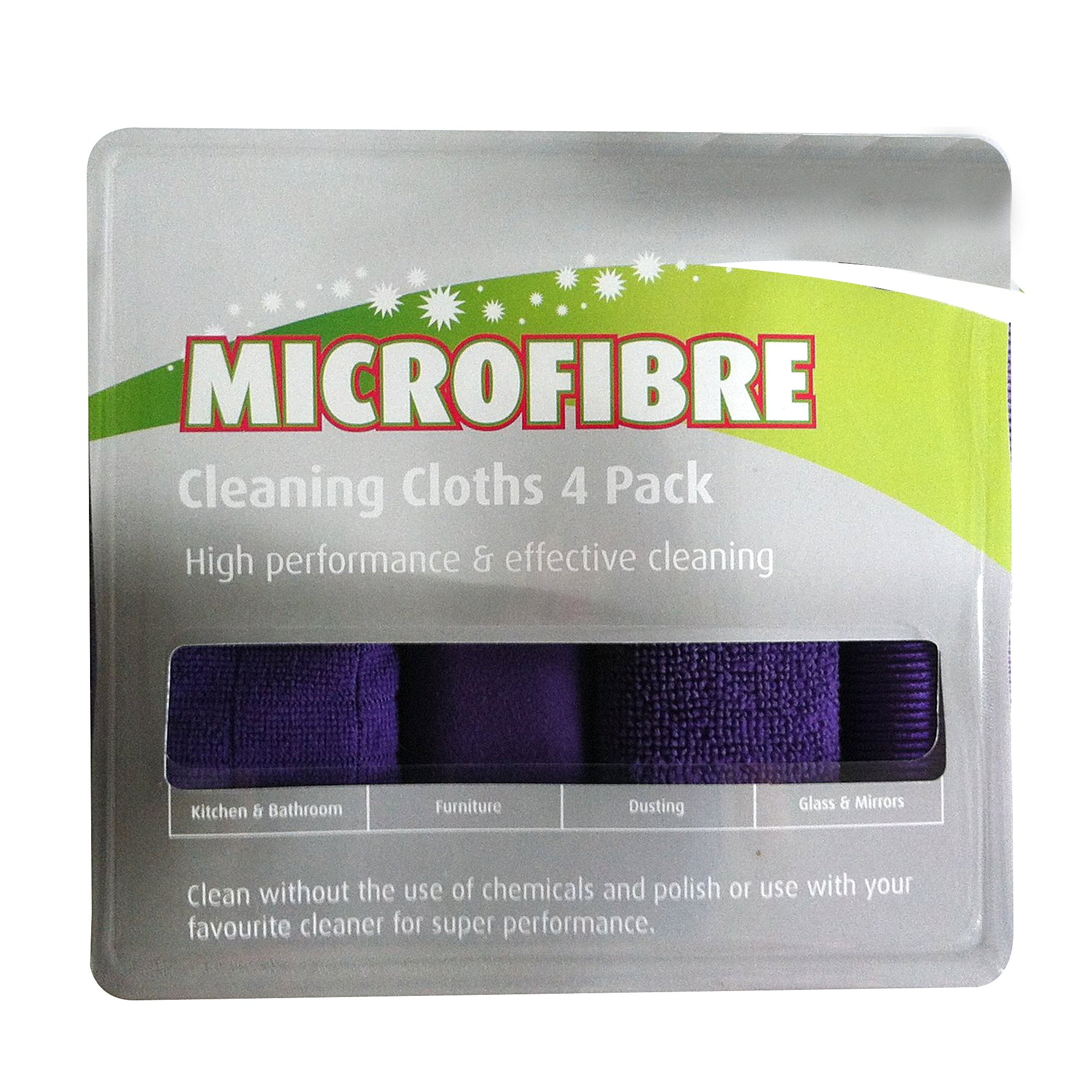 Pack of 4 Microfibre Cloths
