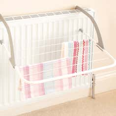 White 5 Bar Radiator Airer