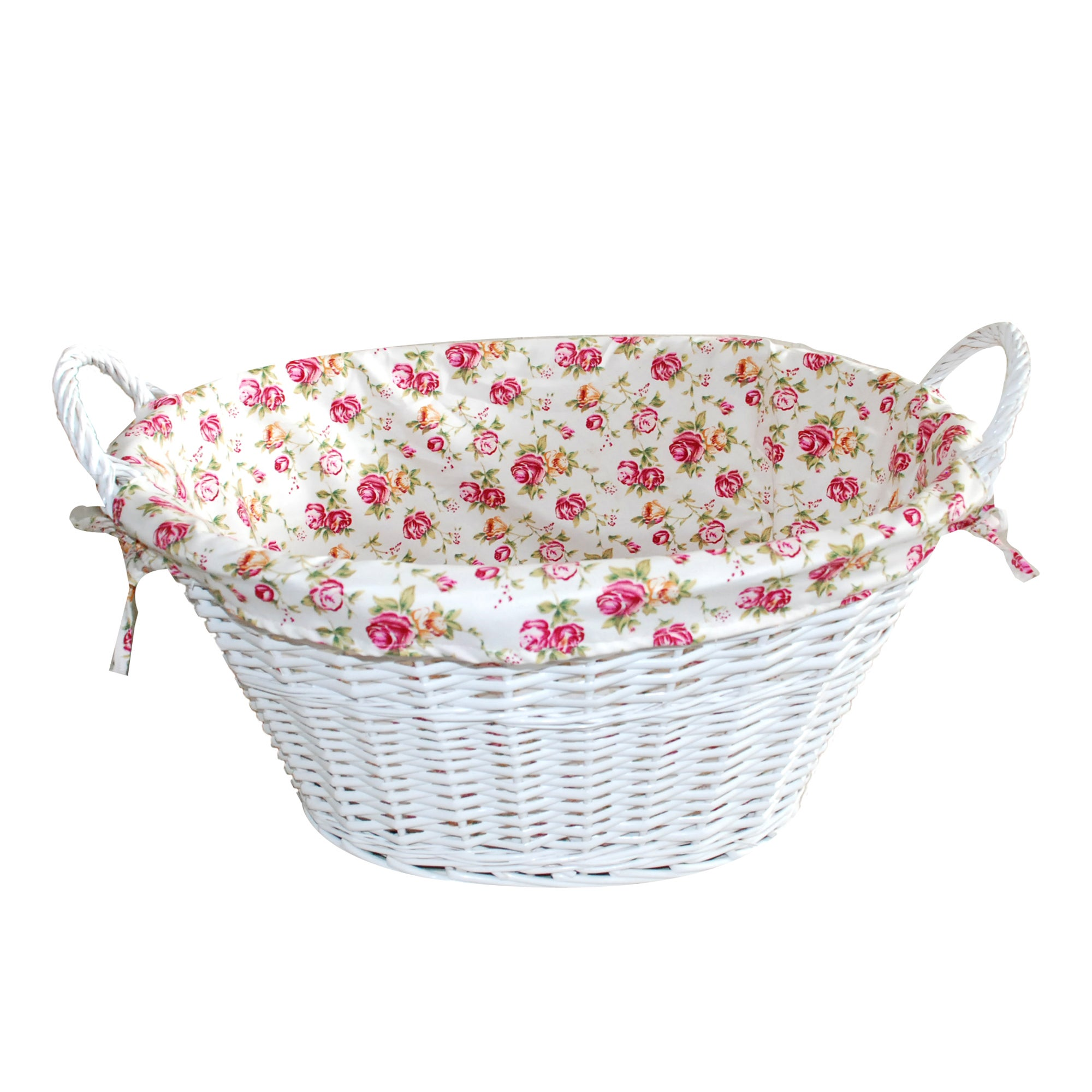 White Willow Collection Oval Basket