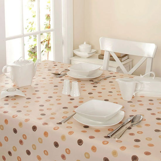 Natural Country Spots Collection Square PVC Tablecloth
