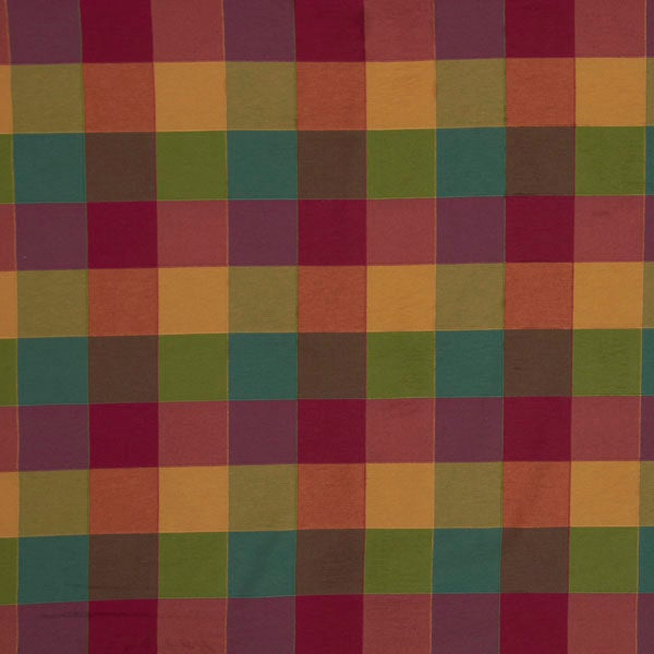 Malaga Check Multi Coloured Fabric