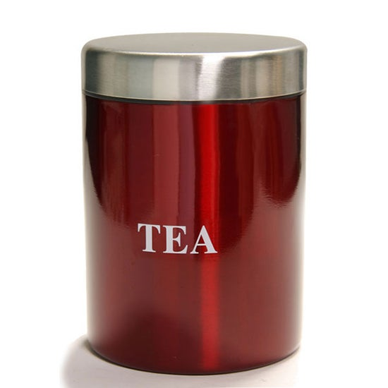 Red Spectrum Collection Tea Canister