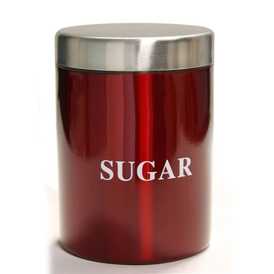 Red Spectrum Collection Sugar Canister
