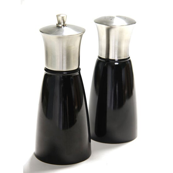 Black Spectrum Collection Salt and Pepper Mill Set