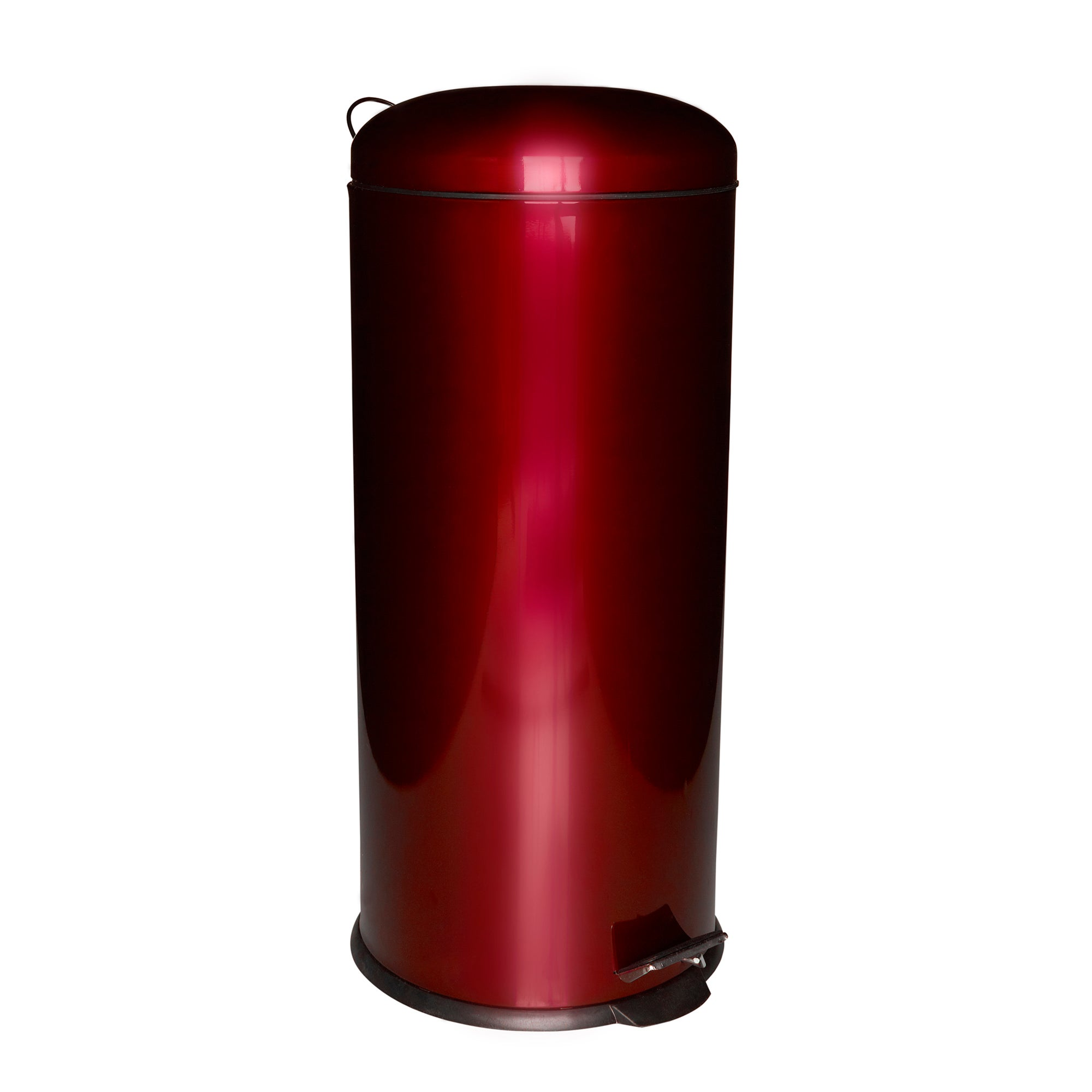 Red Spectrum Collection Metallic 30 Litre Pedal Bin