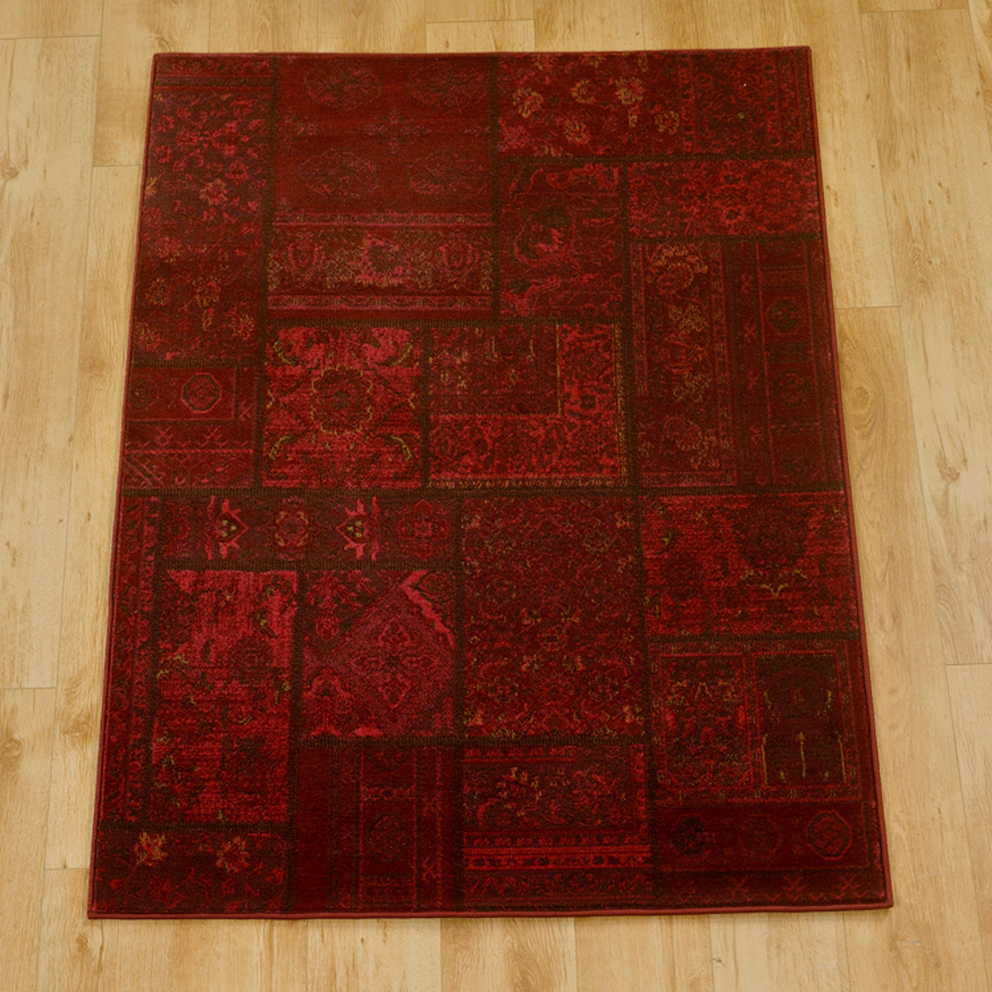 Red Aura Patchwork Runner