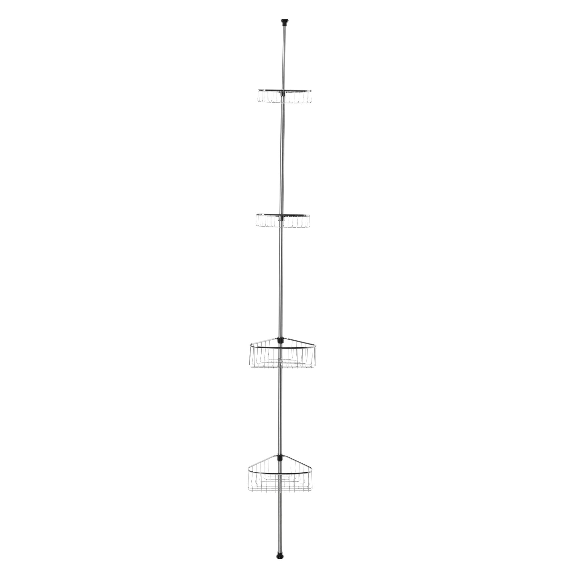 Bathroom Basics Extendable 4 Tier Corner Caddy