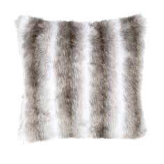 Grey Luxury Faux Fur Cushion