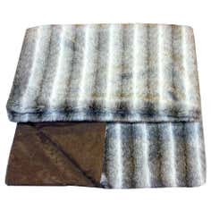 Luxury Grey Faux Fur Throw