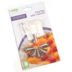 Cookshop Icing Bag With 6 Nozzles