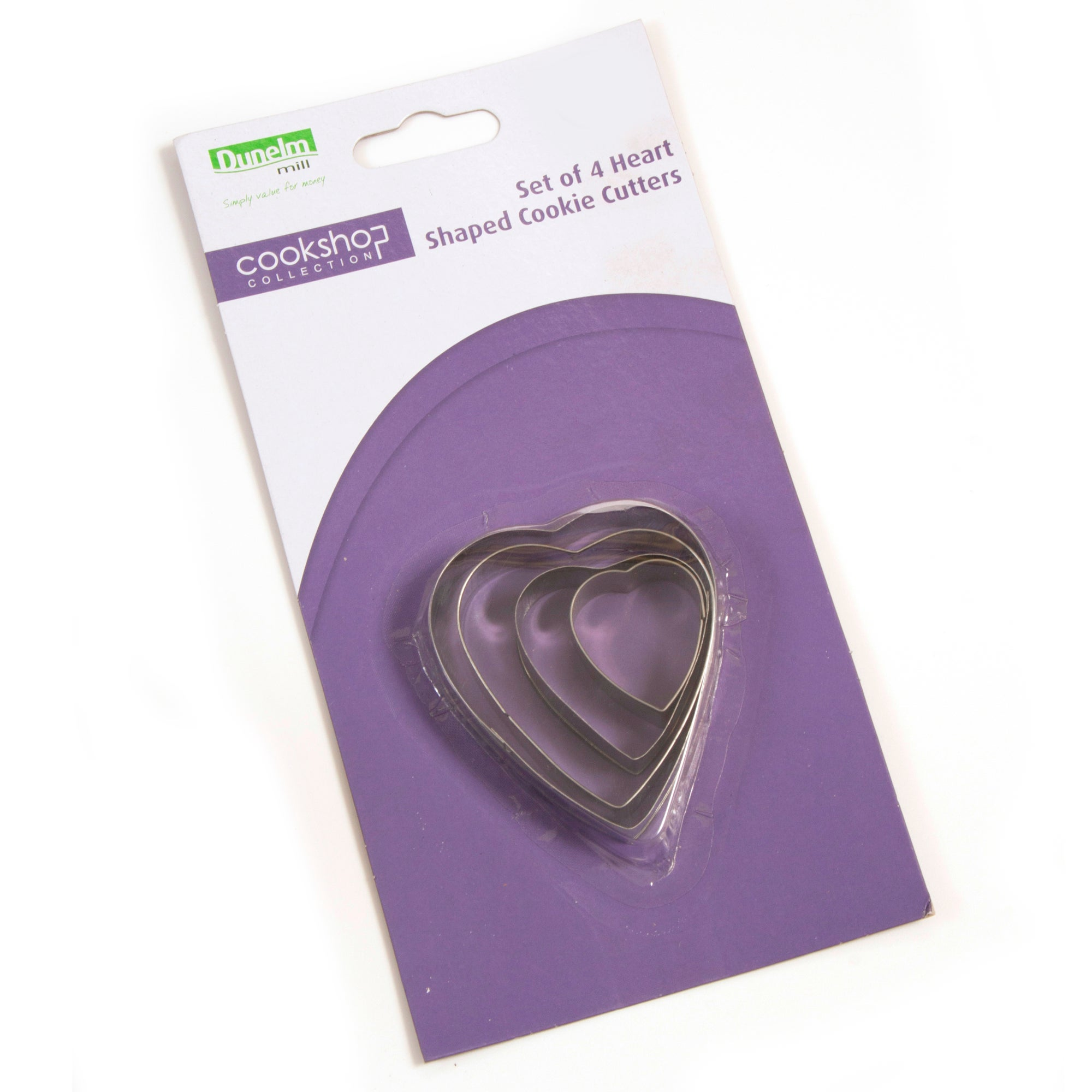 Cookshop Collection Tin Plate Heart Cookie Cutters