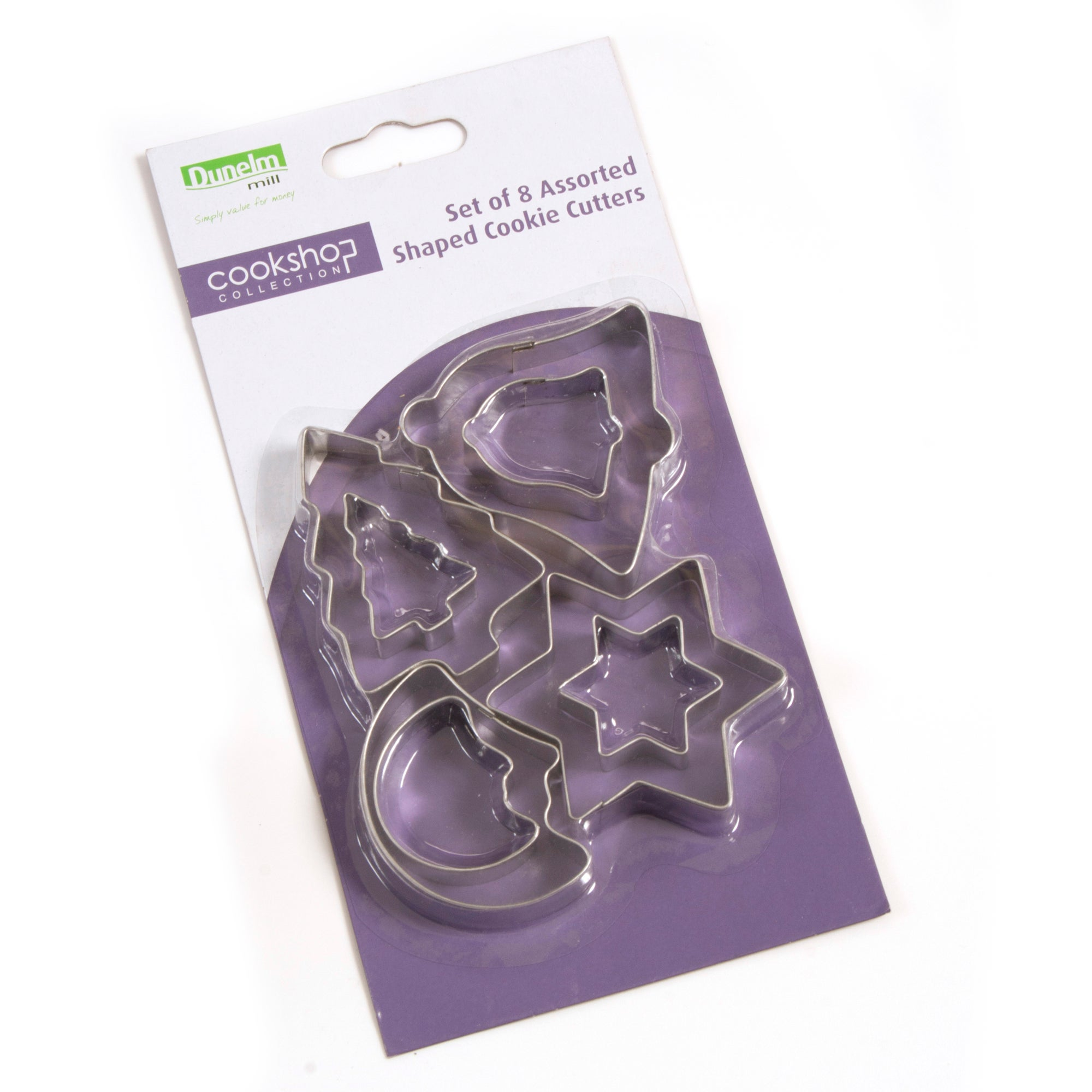 Cookshop Assorted Shapes Tin Cookie Cutters