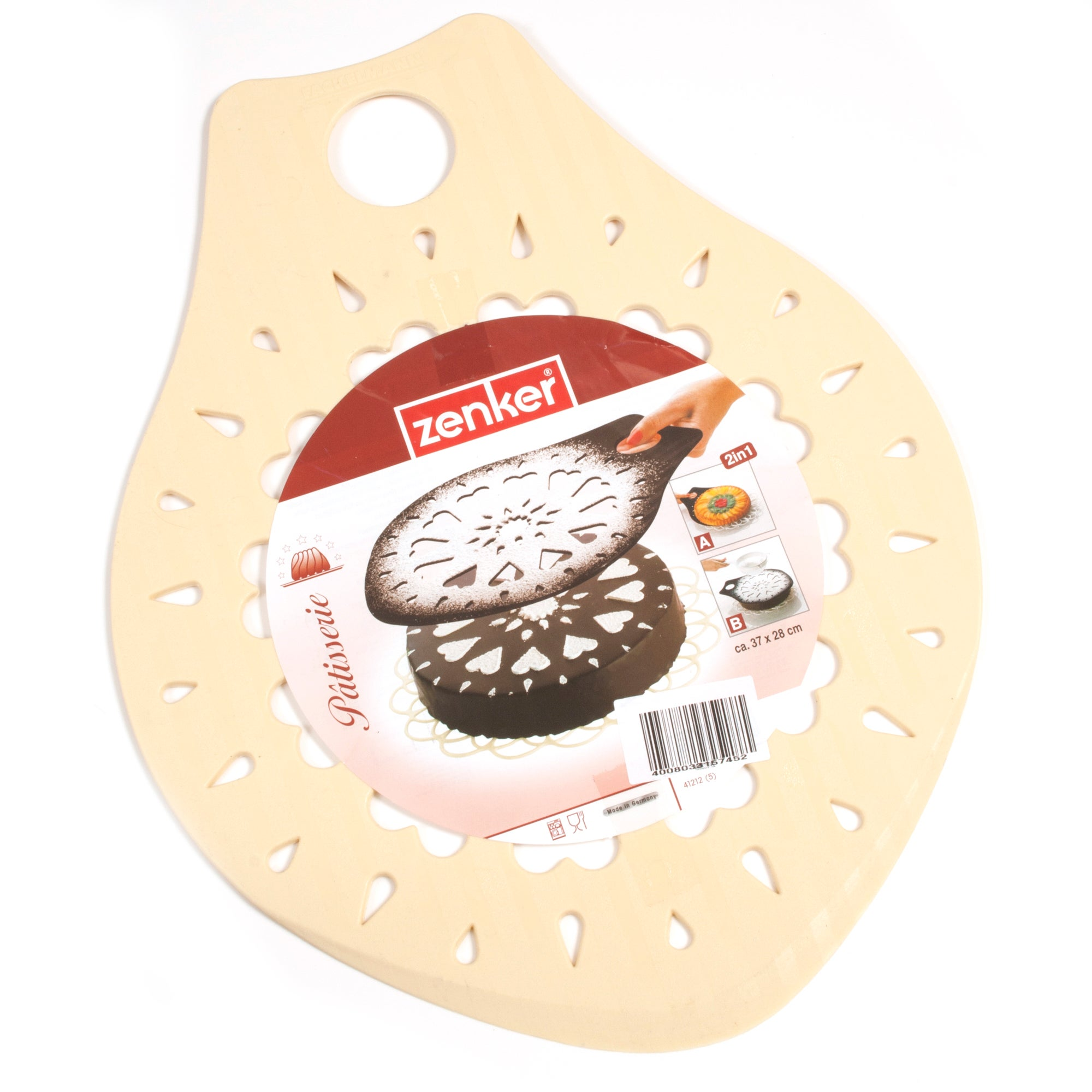 Cookshop Collection Cake Lifter with Stencil